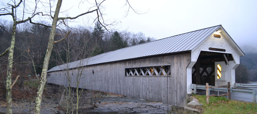Covered bridge in W. Dummerston near Brattleboro, Vt.
