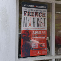 French Market poster, April 2014, Wisconsin Ave., Book Hill, Georgetown