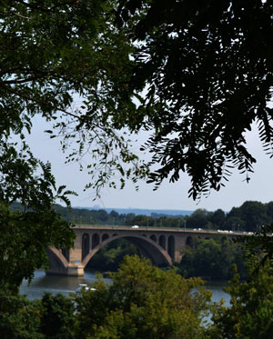 Key Bridge over the Potomac River, seen from Georgetown, D.C.