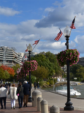 Georgetown Waterfront Park near Washington Harbour Complex, next to Potomac River, Georgetown, D.C.