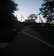 Walkway to the Sea, path from downtown to harbor, Hyannis, Ma.
