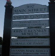 Main St. sign, Downtown Hyannis, Ma.