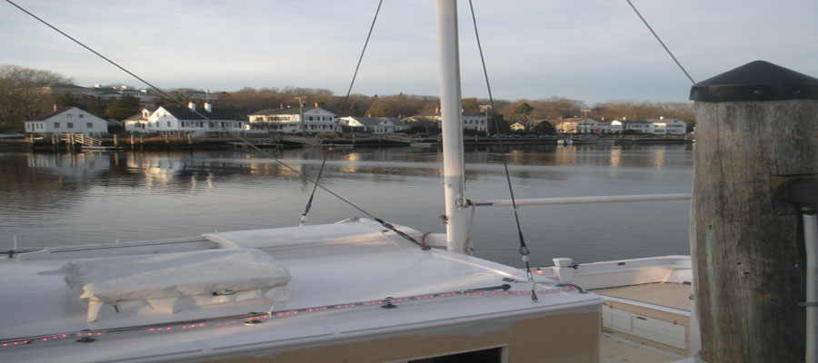 View of Mystic River, Downtown Mystic, Ct.