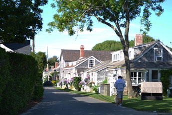 Siasconset cottages near Main St., Siasconset, Ma.