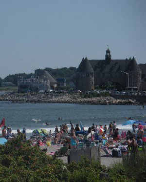 Narragansett Town Beach and Towers, Narragansett Pier, R.I.