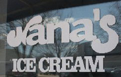 Nana's Ice Cream & Gelato Cafe, Pier Village Marketplace, Narragansett Pier, R.I.