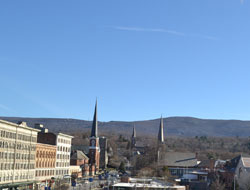 View of Berkshire Mountains from Downtown North Adams, Ma.