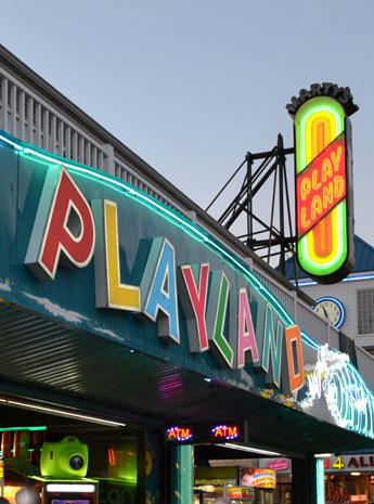 Playland arcade at the Inlet, Ocean City, Md.