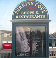Perkins Cove Directory Sign, Perkins Cove, Ogunquit, Maine