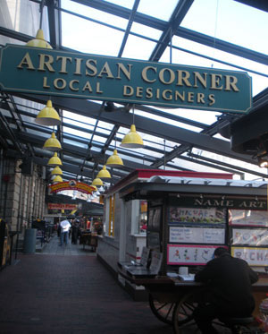 Artisan Corner, Quincy Market North Canopy, Faneuil Hall Marketplace, Boston, Ma.