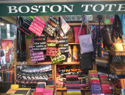 Boston Tote, Quincy Market South Canopy, Faneuil Hall Marketplace, Boston, Ma.