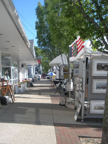 Brown St. during Wickford Art Festival, 2011