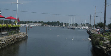 View of harbor from Wickford Bridge, Wickford, R.I.