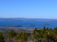 Bar Harbor and the Porcupine Islands seen from the top of Cadillac Mtn., Acadia National Pk., Mt. Desert Island, Maine