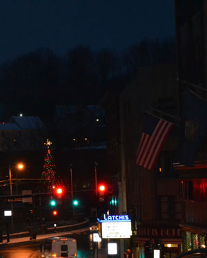 Main St. during Christmas, Brattleboro, Vt.