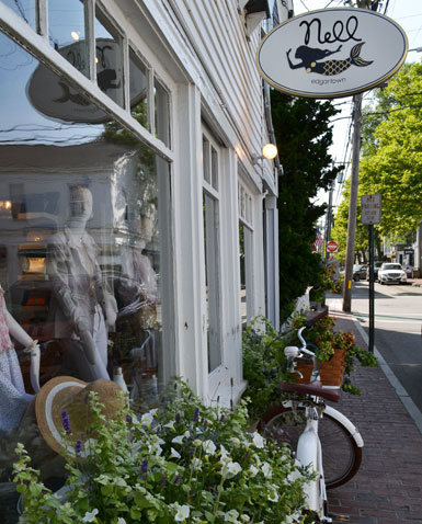 Nell, women's boutique, Main St., Edgartown, Ma.