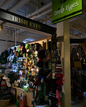 Irish Eyes in lower level of Faneuil Hall, Boston, Ma.