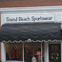 Sound Beach Sportswear, Sound Beach Ave., Old Greenwich, Ct.