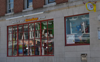 Curious George Store, JFK Street, Harvard Square, Cambridge, Mass.
