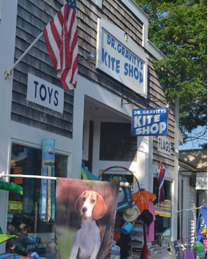 Dr. Gravity's Kite Shop, Main St., Rt. 28, Harwich Port, Ma.
