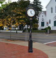 Clock at Hingham Square, Hingham, Ma.