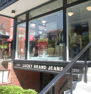 Lucky Brand Jeans, Newbury St., Boston, Ma.