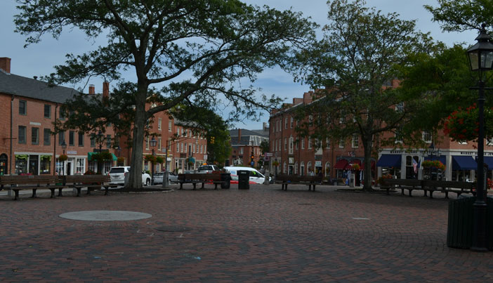 Market Square, downtown Newburyport, Mass.