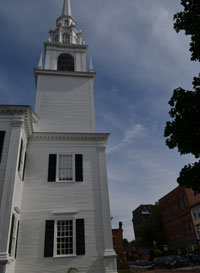 Unitarian Universalist Church and Pleasant St., Newburyport, Mass.