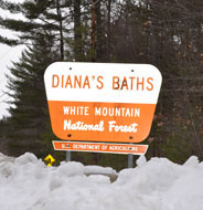 Diana's Baths (waterfall), part of White Mtn. Natl. Forest, West Side Rd., Bartlett, N.H.