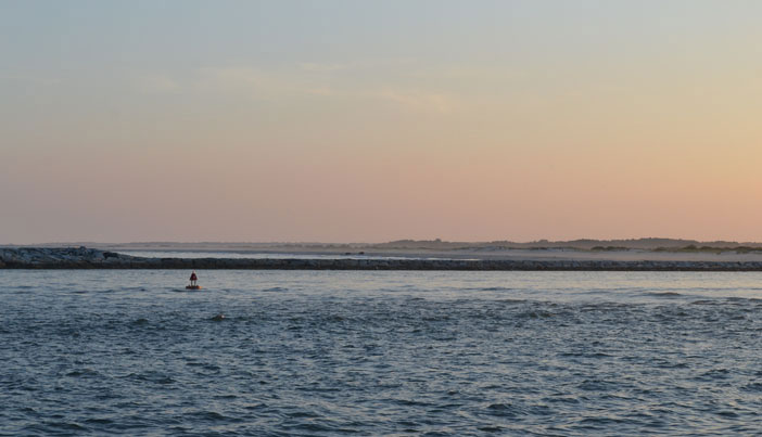 View of the Inlet and Assateague Island, Ocean City, Md.