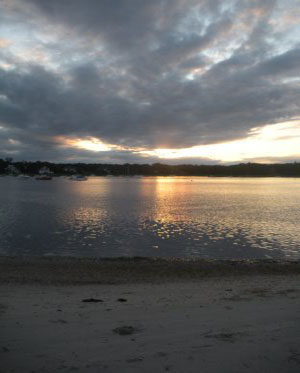 East Bay seen from cove at Dowses Beach, Osterville, Ma.