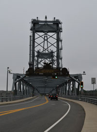 Memorial Bridge, downtown Portsmouth, connecting to Badger's Island in Kittery, Maine