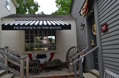 Pickwick's at the Banke, gift shop at Strawbery Banke, downtown Portsmouth, N.H.