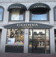 Godiva Chocalatier, South Market, Faneuil Hall Marketplace, Boston, Ma.