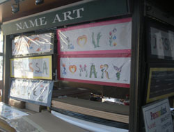 Name Art, Quincy Market North Canopy, Faneuil Hall Marketplace, Boston, Ma.