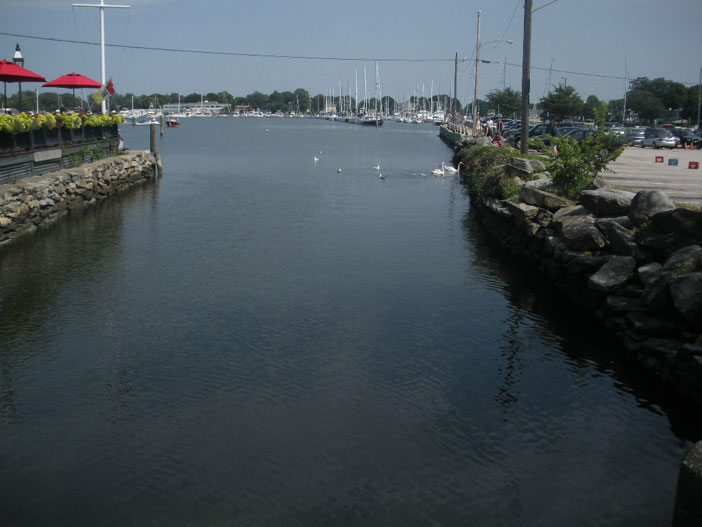 View of Wickford Cove from Wickford Bridge, Brown St., Wickford, R.I.
