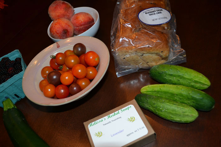 Goods from Wickford Farmers Market, August, 2013