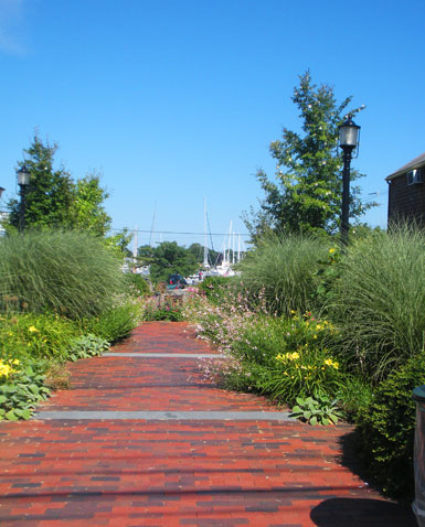 Garden Path to Wickford Harbor, Brown St., Wickford, R.I.