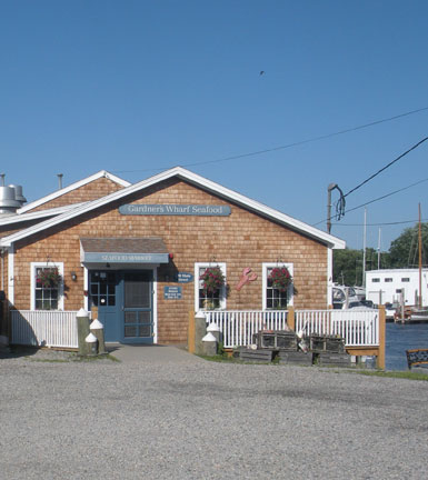 Gardner's Wharf Seafood, end of Main St. at Wickford Cove, Wickford, R.I.