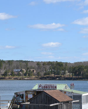 Sheepscot River view, Wiscasset, Maine